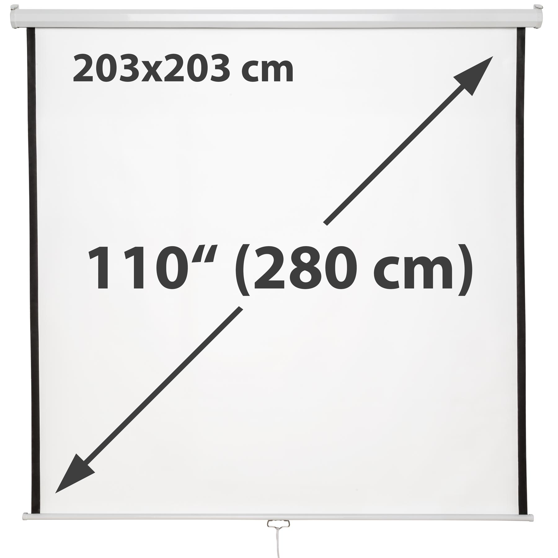 new 110 u0026quot  hd projection screen 203x203 home cinema 4 3 pull