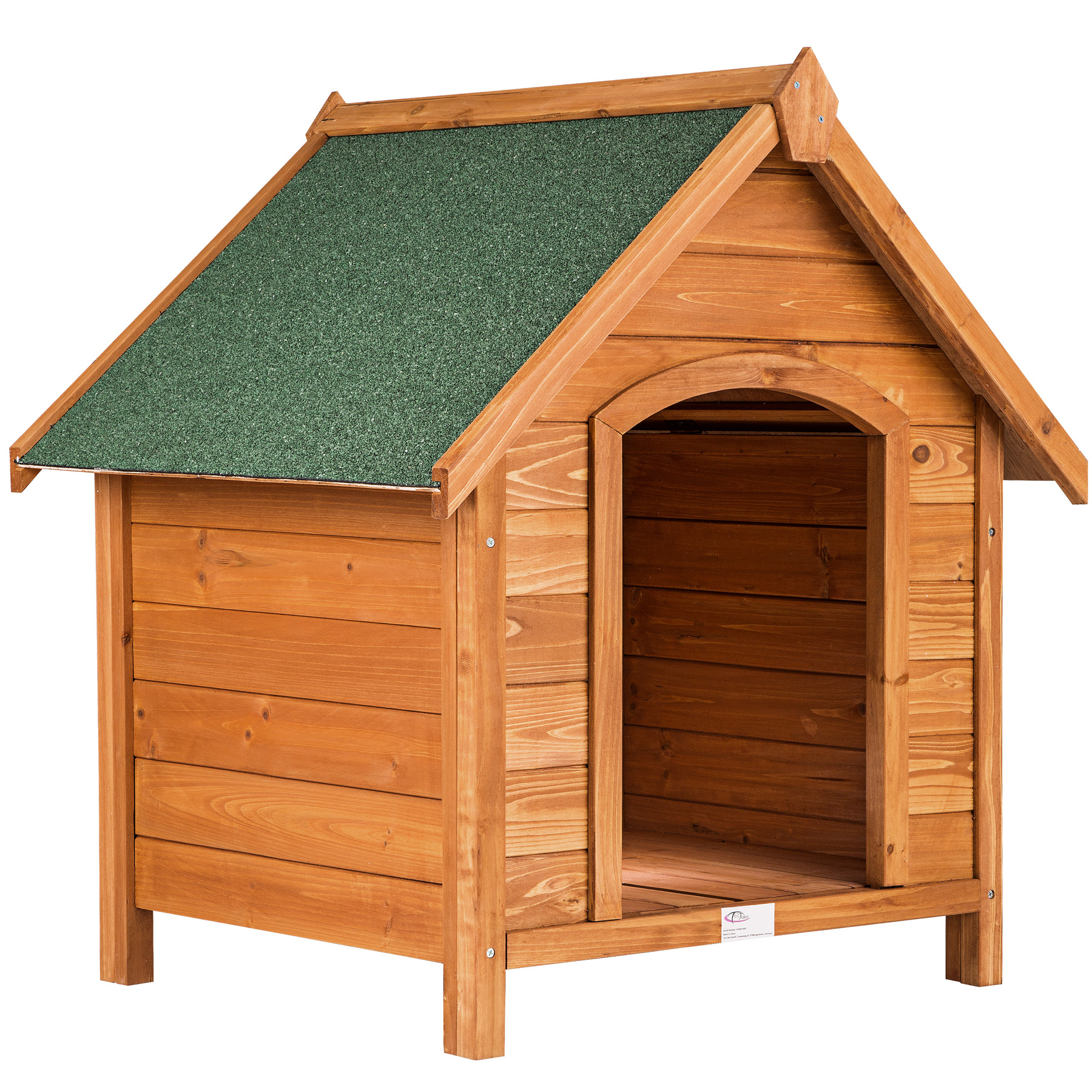 Wooden xxl dog kennel house tar roof garden crate cage for Xxl dog house