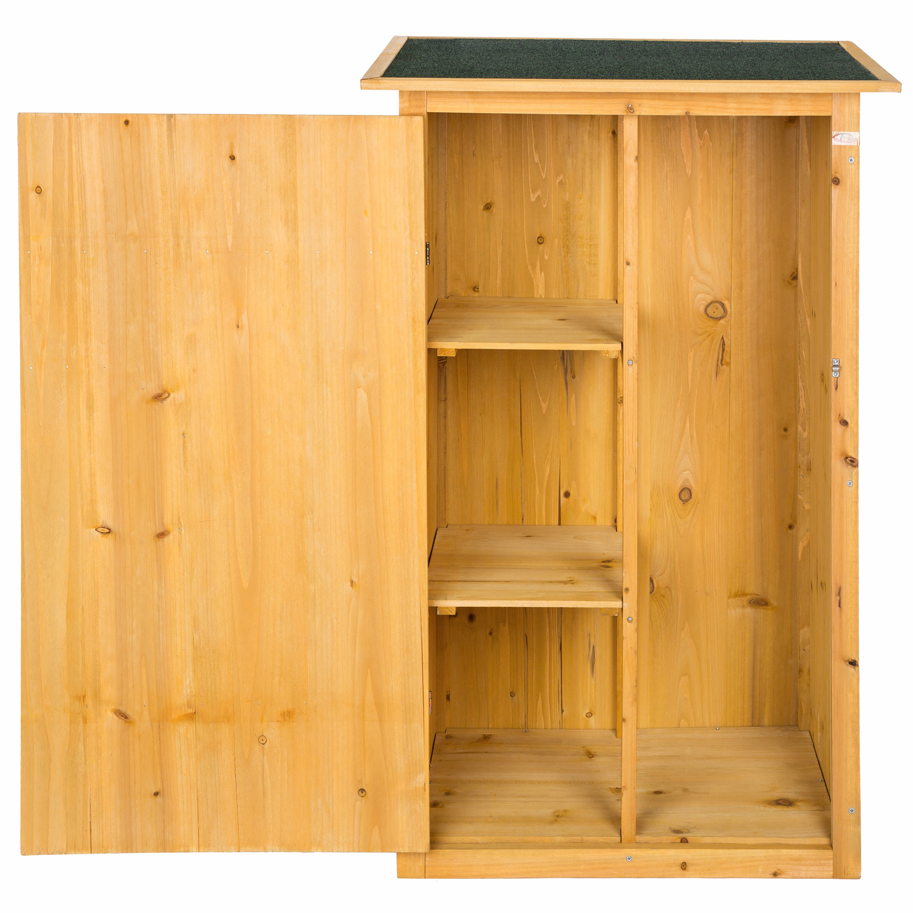 wooden outdoor garden cabinet utility storage tools xxl shelf box shed flat roof. Black Bedroom Furniture Sets. Home Design Ideas