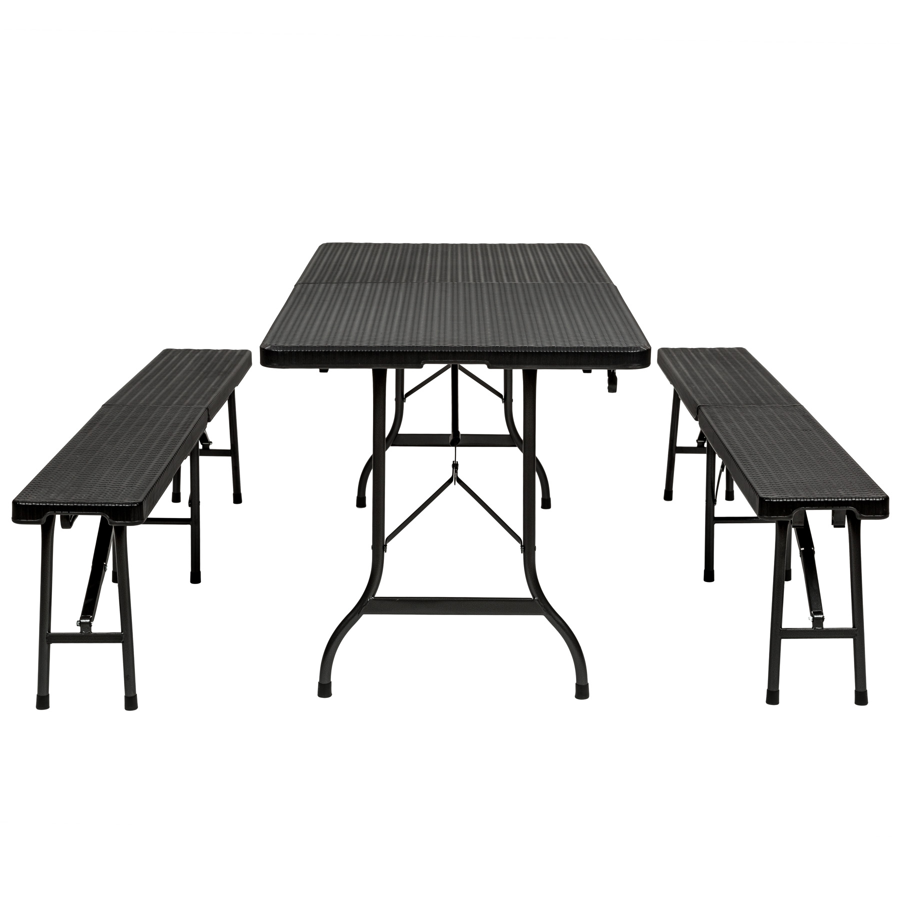 Folding Portable Table Benches Camping Set Garden Dining