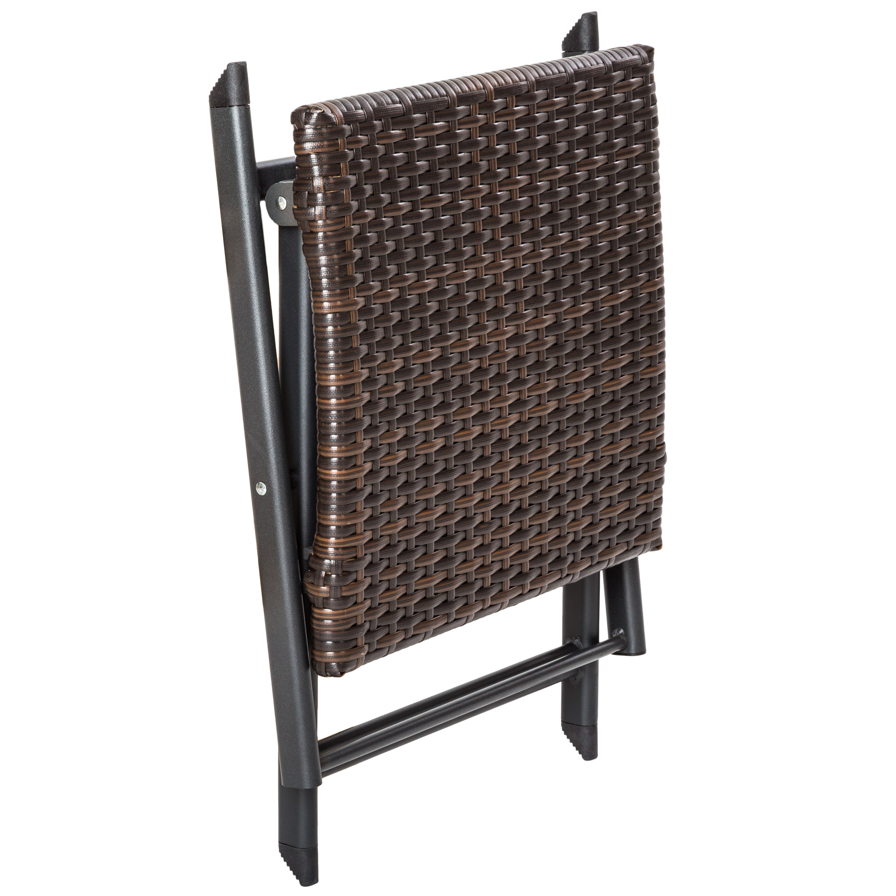 aluminium rattan klapphocker sitzhocker beistelltisch hocker stuhl rattanhocker. Black Bedroom Furniture Sets. Home Design Ideas