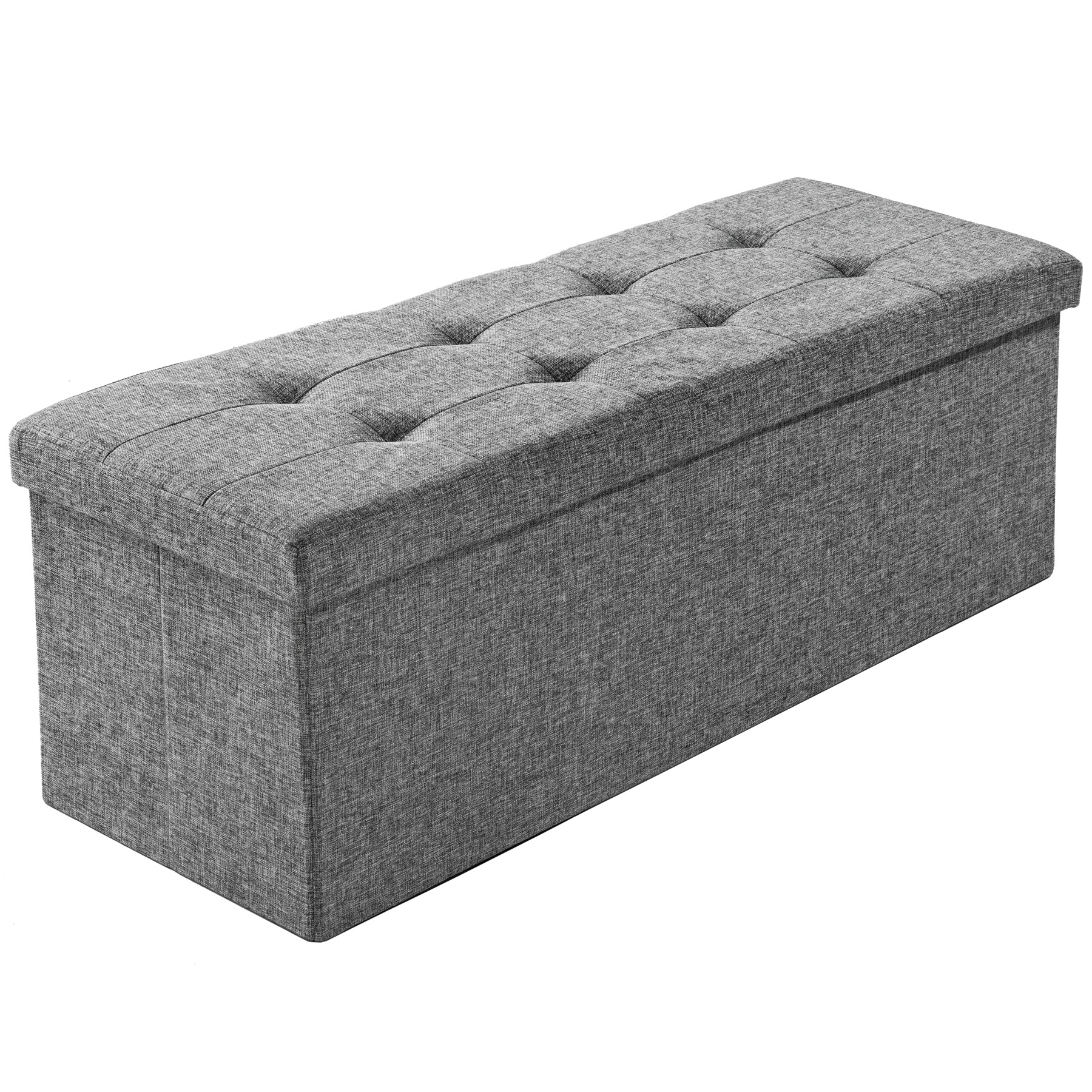 folding seat bench storage space box chair cube footstool. Black Bedroom Furniture Sets. Home Design Ideas
