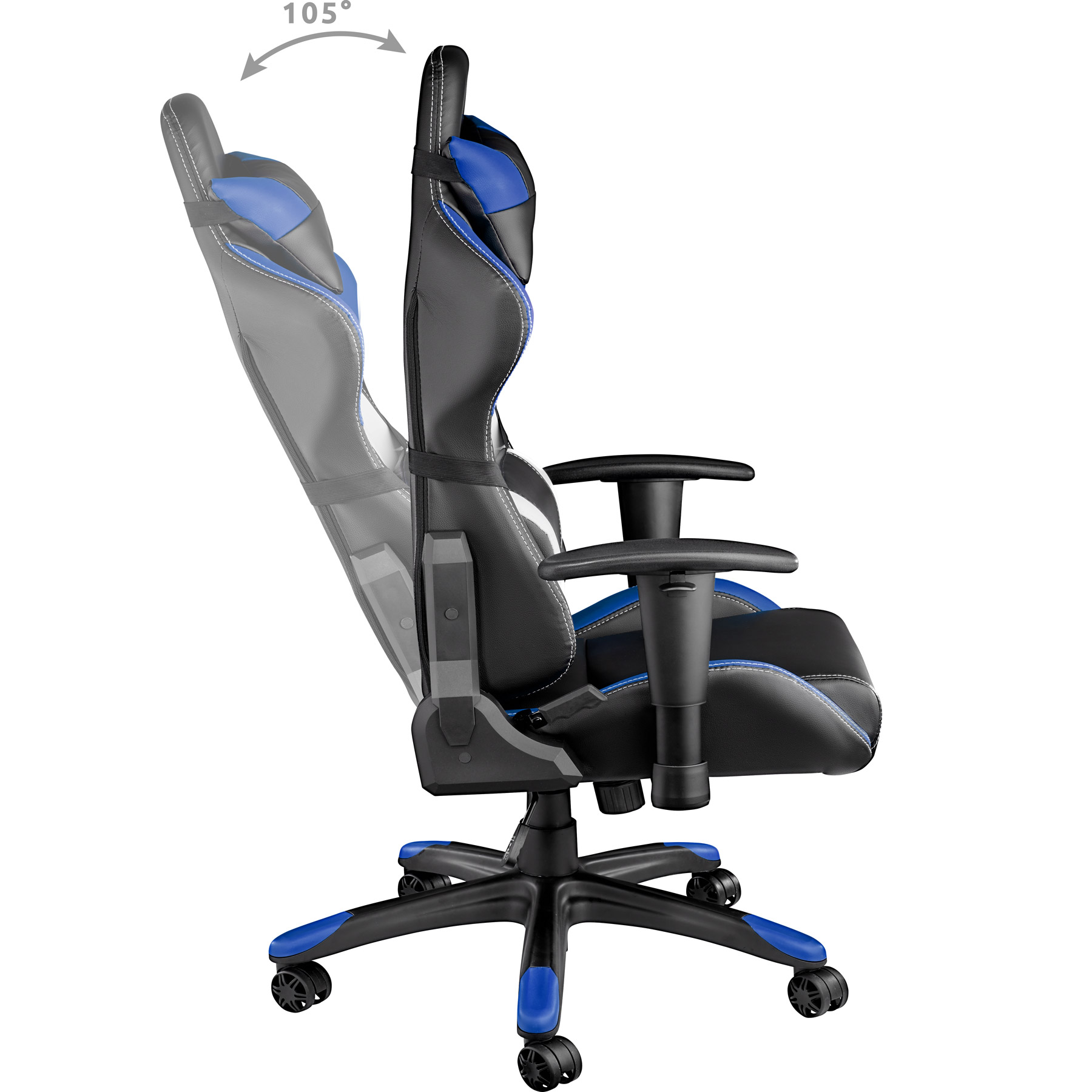 racing chaise fauteuil de bureau sportive siege voiture r glable imitation cuir ebay. Black Bedroom Furniture Sets. Home Design Ideas