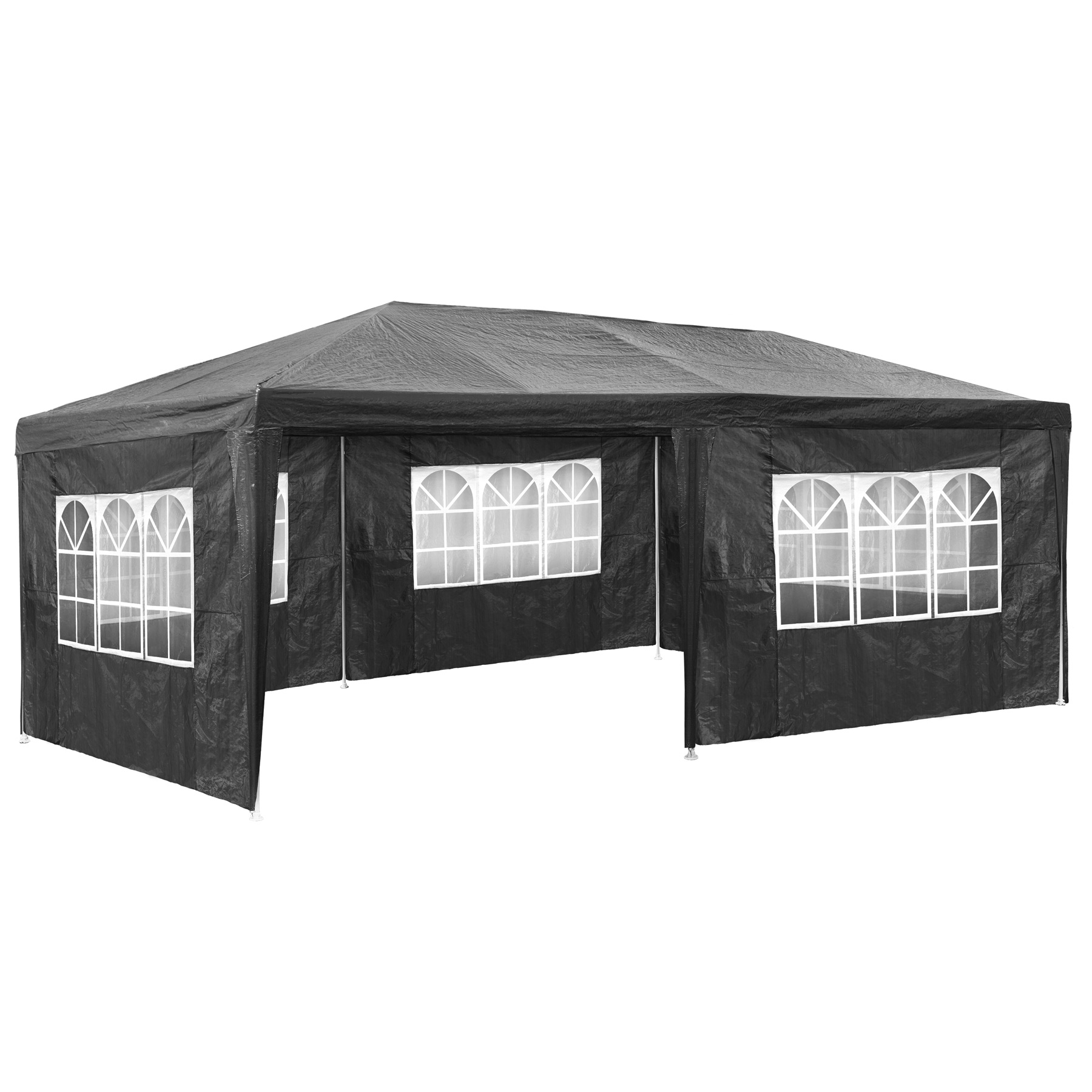 pavillon 3x6m grau partyzelt gartenzelt festzelt zelt. Black Bedroom Furniture Sets. Home Design Ideas