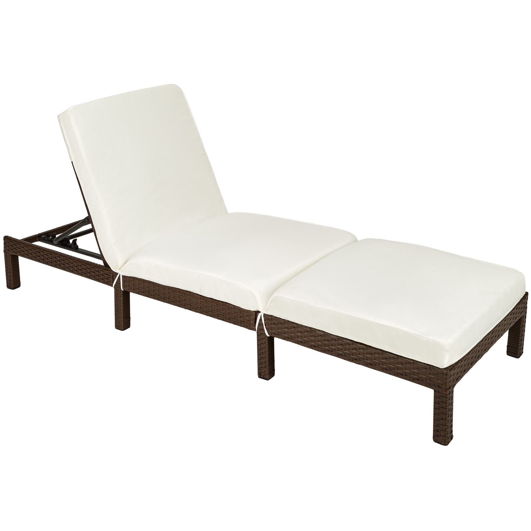 chaise longue bain de soleil meuble de jardin en poly rotin transat coussin ebay. Black Bedroom Furniture Sets. Home Design Ideas