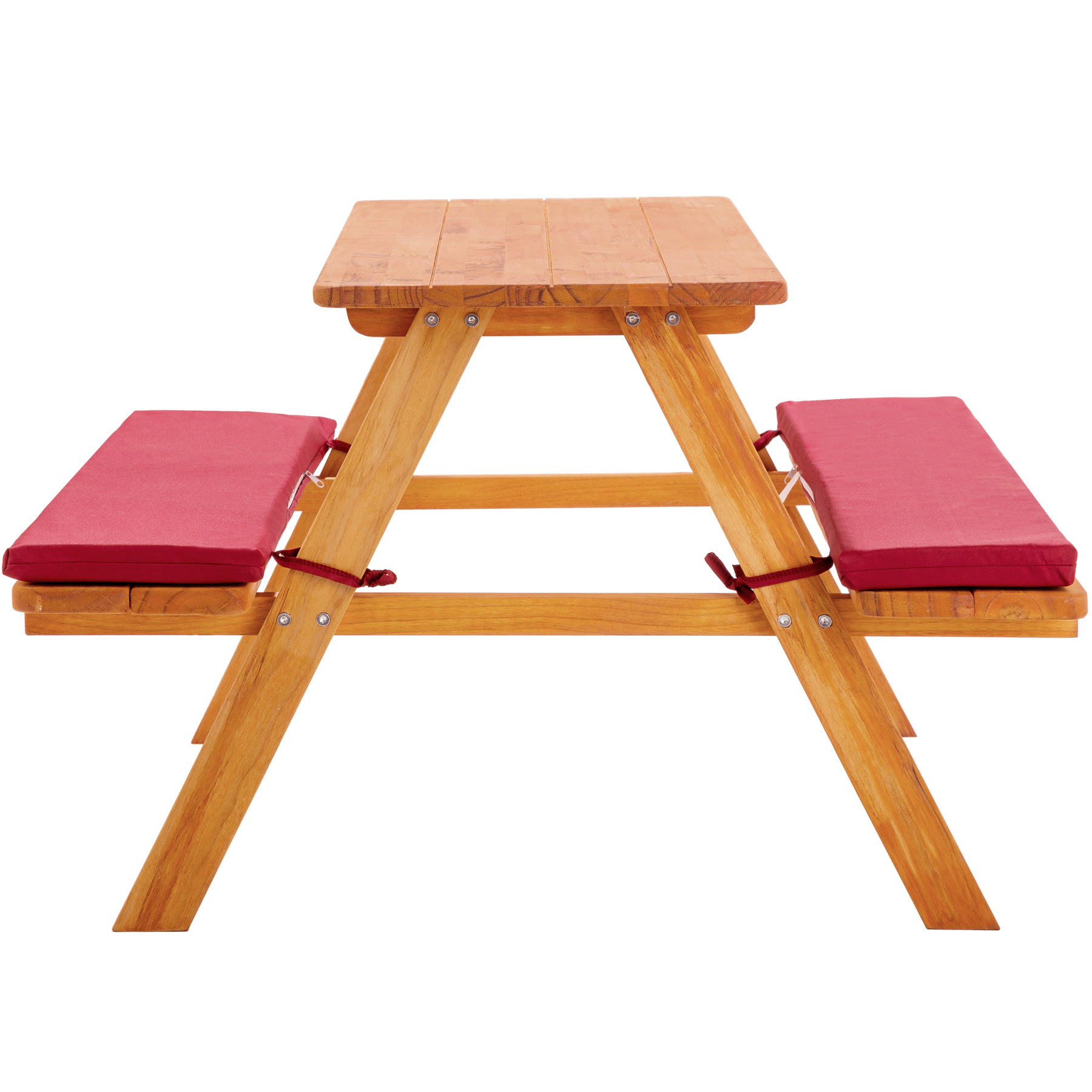 Kids picnic table bench set childrens wood garden ...