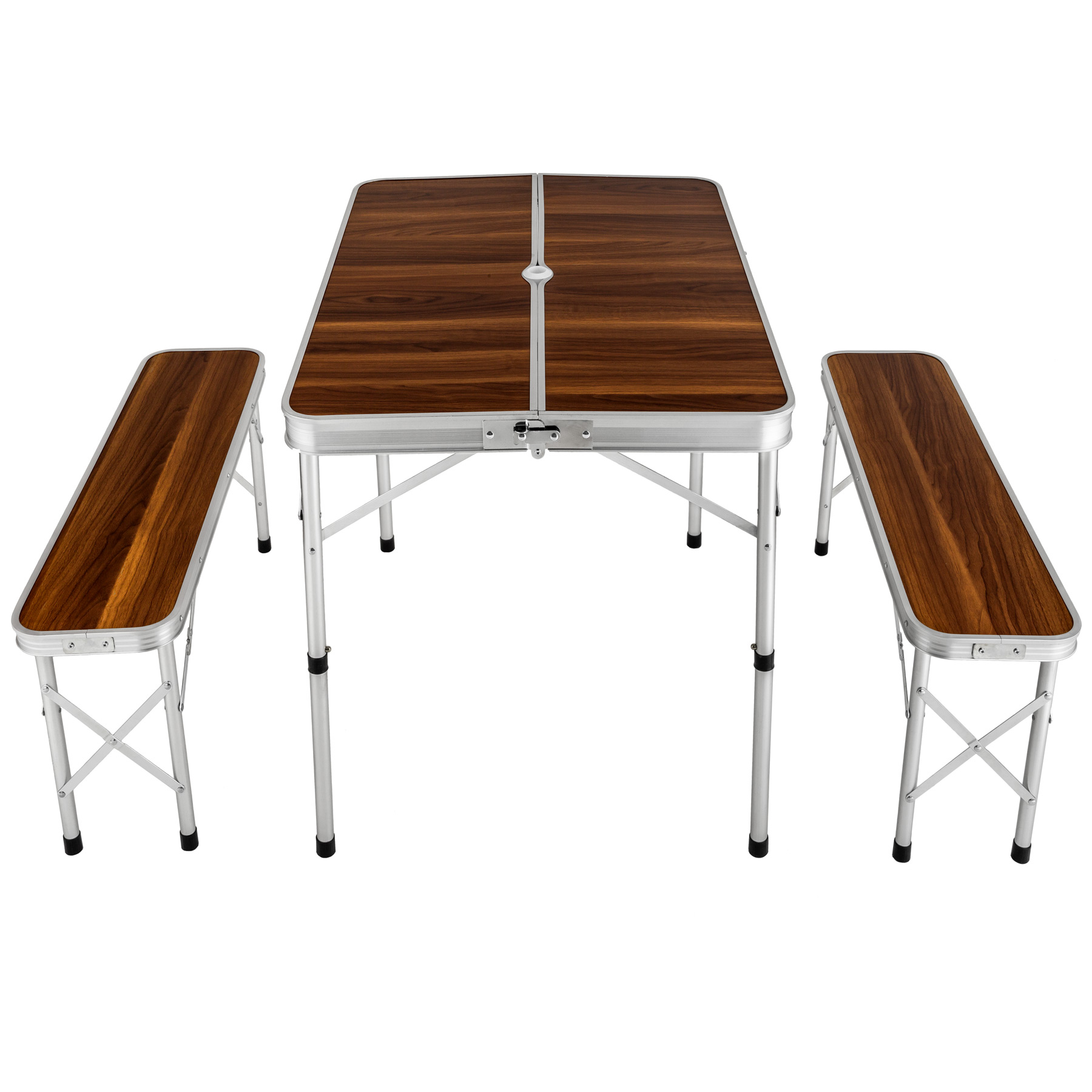 eensemble table pliante valise avec 2 bancs camping aluminium pique nique jardin ebay. Black Bedroom Furniture Sets. Home Design Ideas