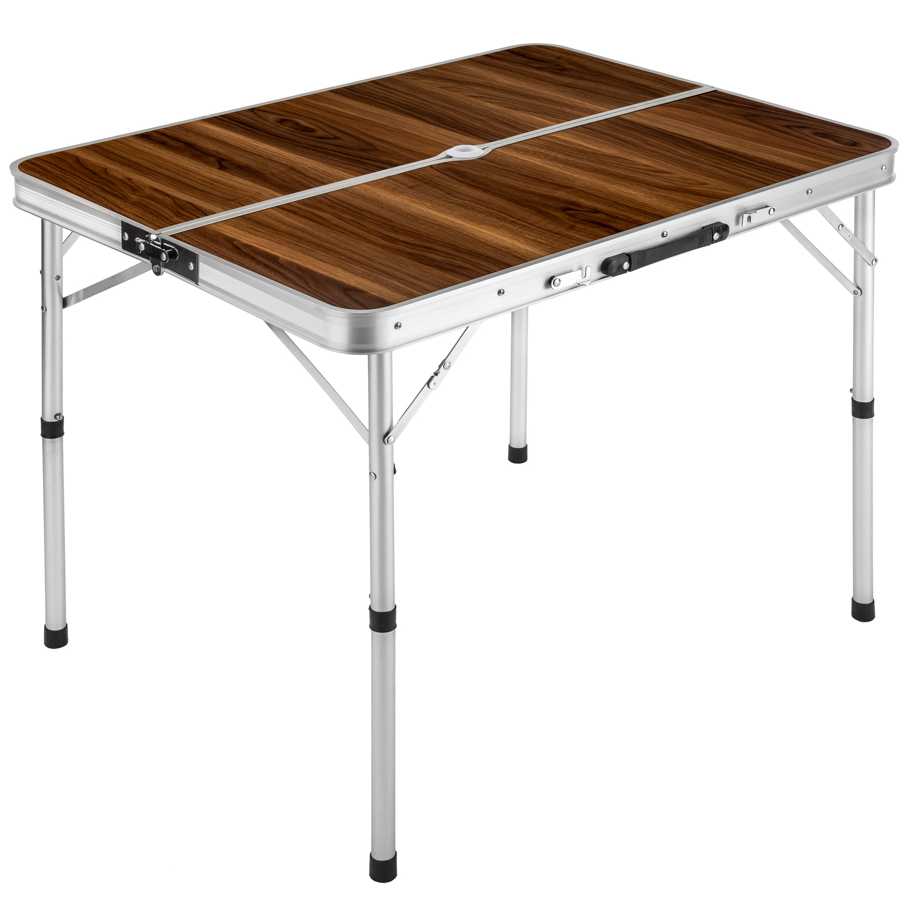 Eensemble table pliante valise avec 2 bancs camping for Table pliante avec rallonge