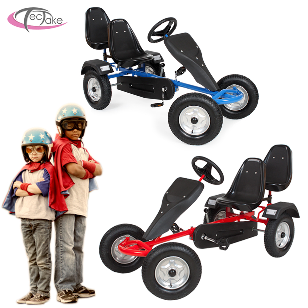 go kart pedales 2 places cart biplace kettcar v hicule enfants voiture ebay. Black Bedroom Furniture Sets. Home Design Ideas