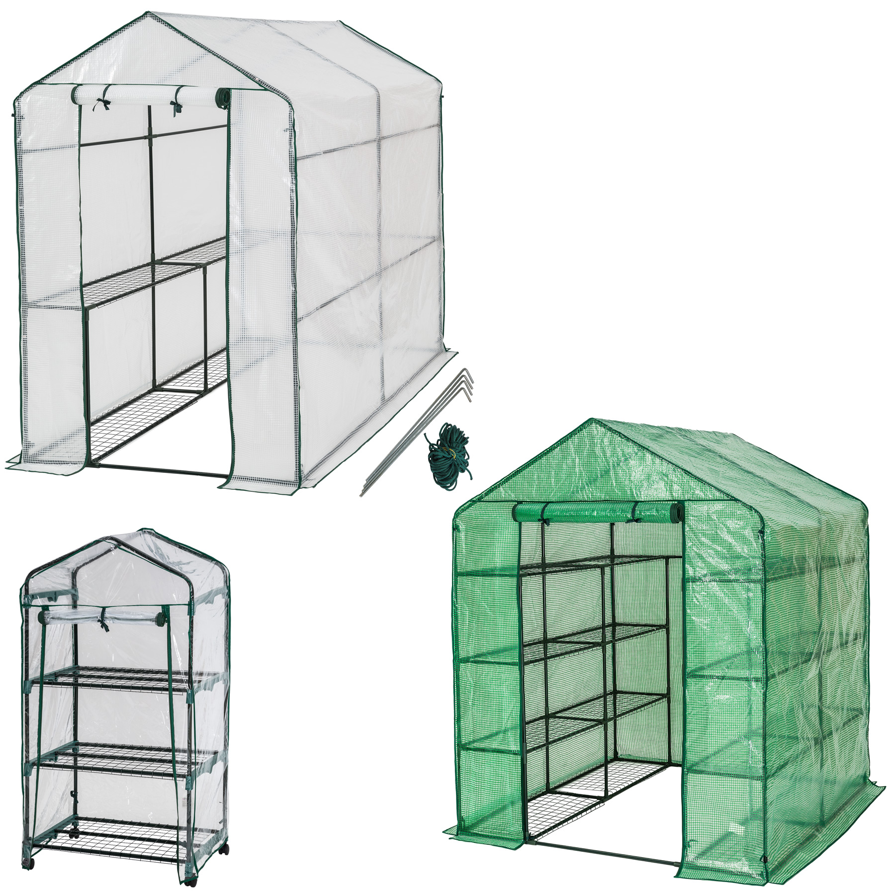 Greenhouse with shelf pvc cover growhouse outdoor tent house plants ebay - Serre de jardin 12m2 ...