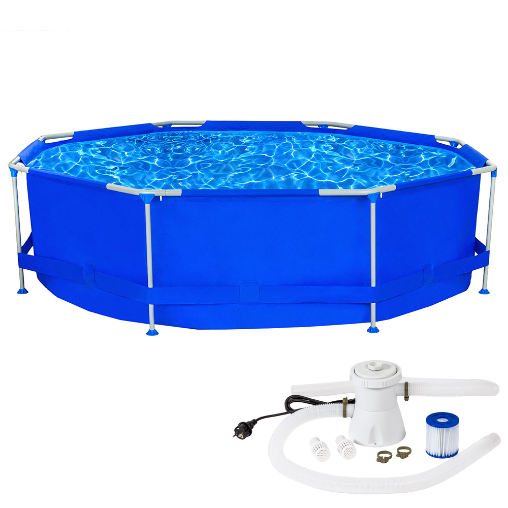swimming pool komplettset schwimmbad becken planschbecken schwimmbecken ebay. Black Bedroom Furniture Sets. Home Design Ideas
