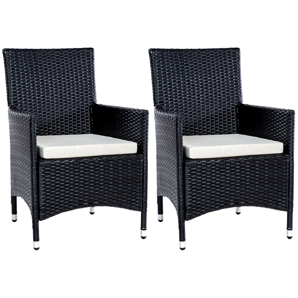 2er set polyrattan rattan st hle gartenstuhl sessel rattanstuhl aus igersheim. Black Bedroom Furniture Sets. Home Design Ideas